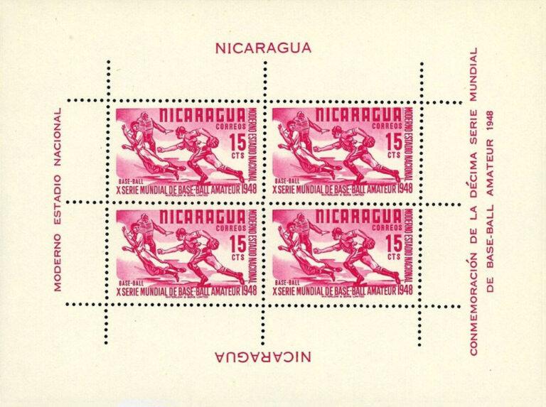 1949 Nicaragua – 10th World Series of Amateur Baseball – 15¢