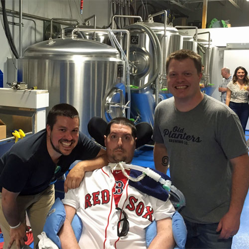 Pete Frates at Old Planters Brewing Co.
