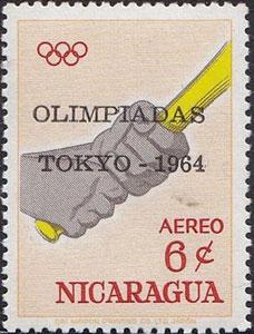 "1964 Nicaragua – Olympic Games in Tokyo, ""Olympiadas Tokyo 1964"" Overlay"