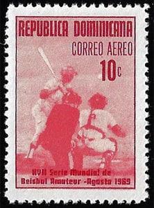 1969 Dominican Republic – XVII Serie Mundial de Beisbol Amateur, 10¢