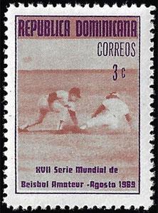 1969 Dominican Republic – XVII Serie Mundial de Beisbol Amateur, 3¢