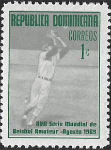 1969 Dominican Republic – XVII Serie Mundial de Beisbol Amateur, 1¢