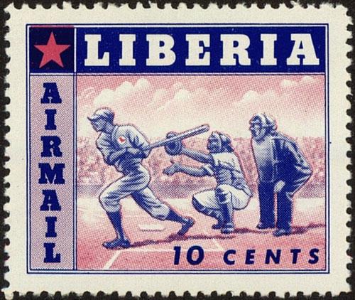 1955 Liberia – Sports featuring Baseball