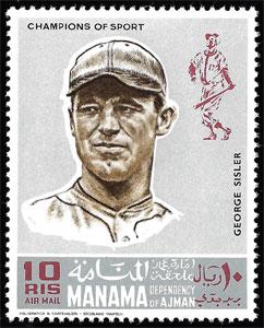 1969 Manama – Baseball Champions, George Sisler