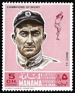1969 Manama – Baseball Champions, Ty Cobb