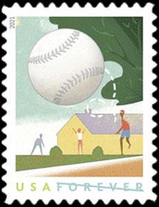 2021 USA – Backyard Games Postage Stamp, baseball