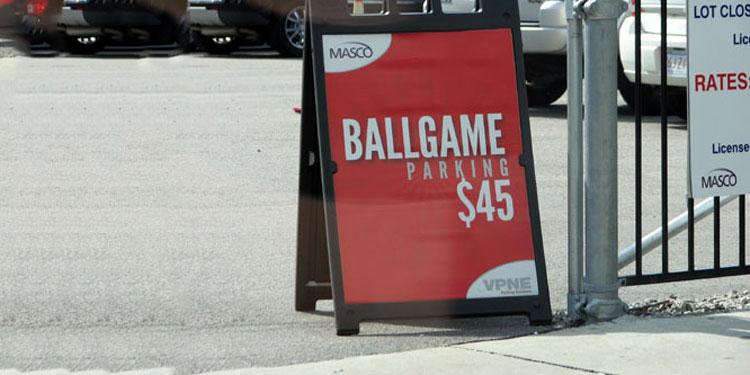 Ballpark Parking for $45
