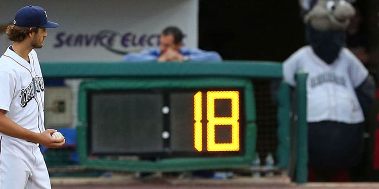 baseball pitch clock for pitcher