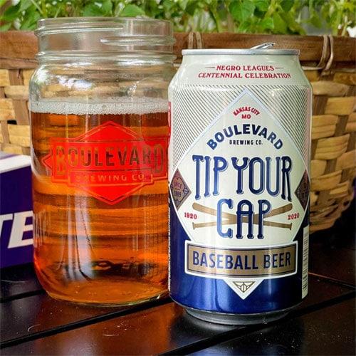 Boulevard Brewing – Tip Your Cap Baseball Beer can