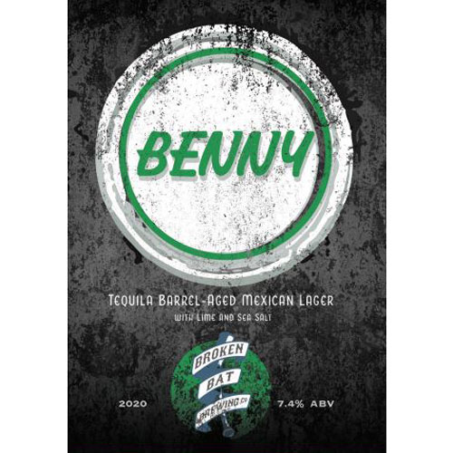 Broken Bat Brewing – Benny Tequila Barrel-Aged Mexican Lager