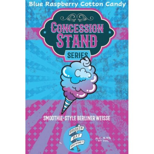 Broken Bat Brewing – Concession Stand, Blue Raspberry Cotton Candy