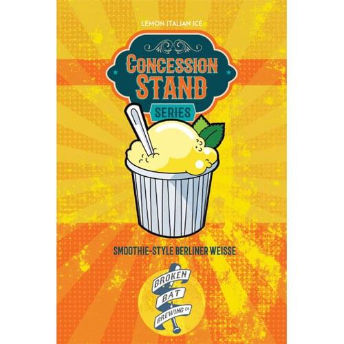 Broken Bat Brewing – Concession Stand, Lemon Italian Ice
