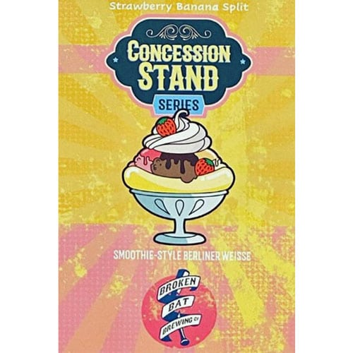 Broken Bat Brewing – Concession Stand, Strawberry Banana Split
