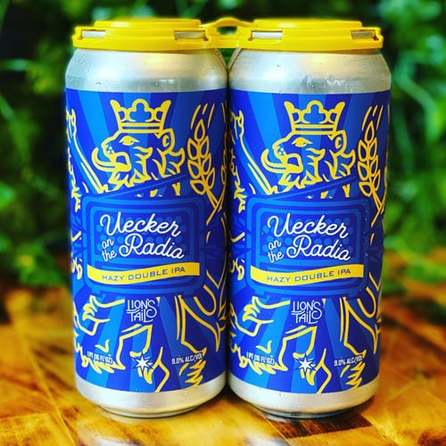 Lion's Tail Brewing – Uecker on the Radio Hazy Double IPA 4-Pack