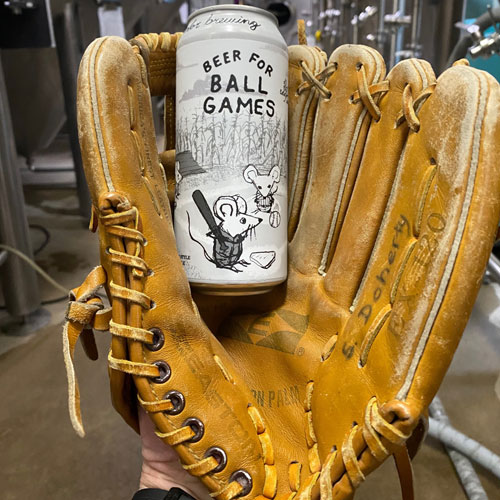 Off Color Brewing – Beer for Ball Games in glove