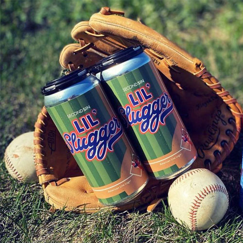 Second Sin – Lil' Slugger cans in baseball glove