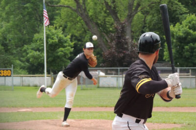 Pitching at Winsor Field in Milford