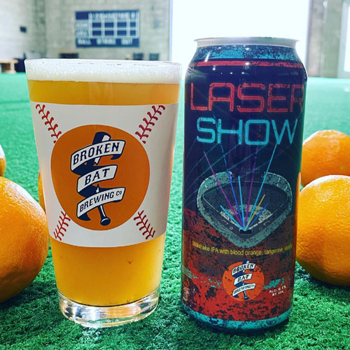 Laser Show Can with Oranges
