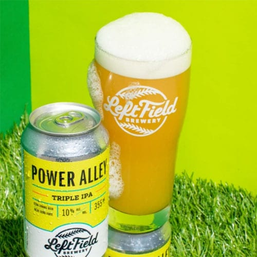 Power Alley Triple IPA in a Glass