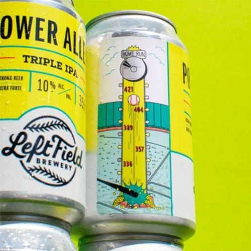 Power Alley Triple IPA Label Art