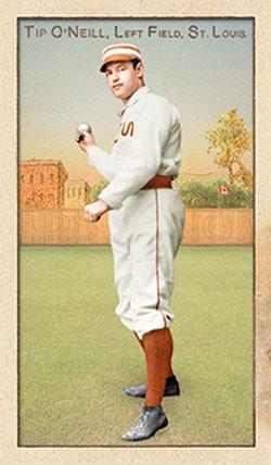 Tip O'Neill, St. Louis Browns baseball card