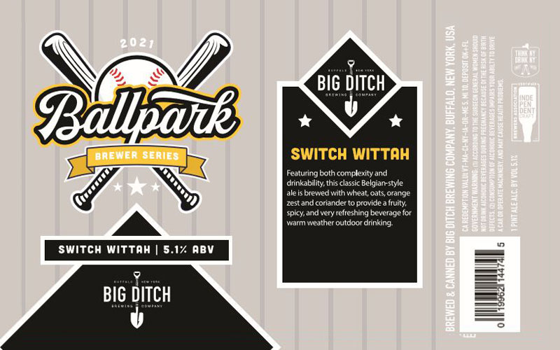 Big Ditch – Switch Wittah beer label
