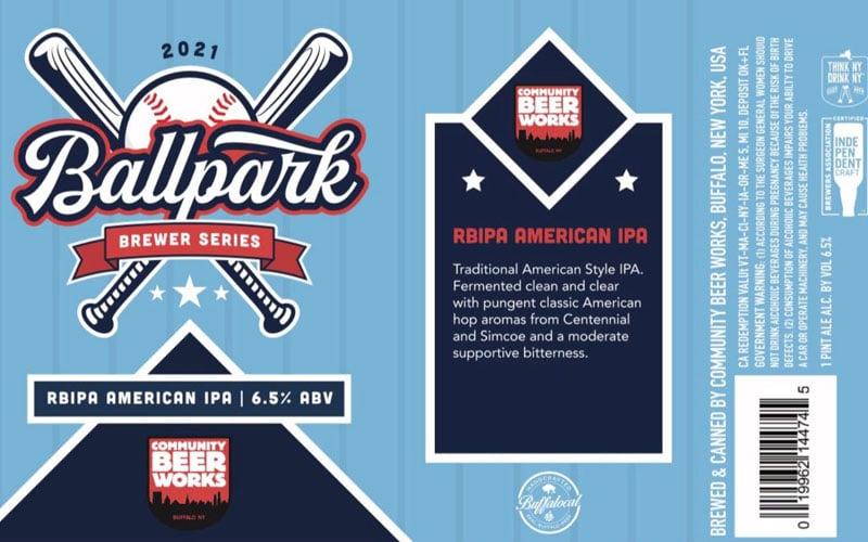 Community Beer Works – RBIPA American IPA Beer Label