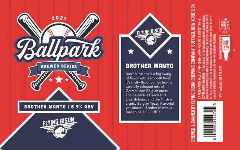 Flying Bison – Broth Manto beer label