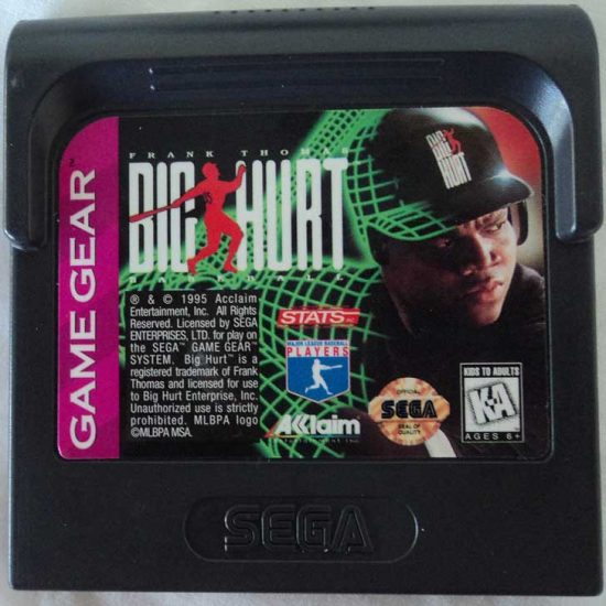 Frank Thomas Big Hurt Baseball 1996 Cartridge