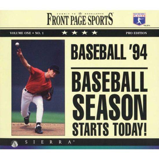 Front Page Sports: Baseball Pro '94